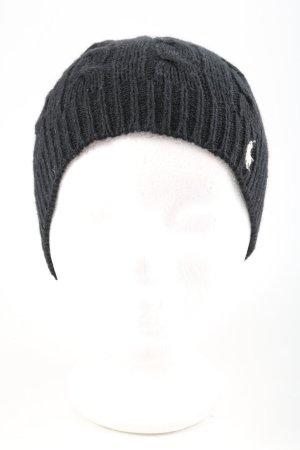 Ralph Lauren Cappello a maglia nero punto treccia stile casual