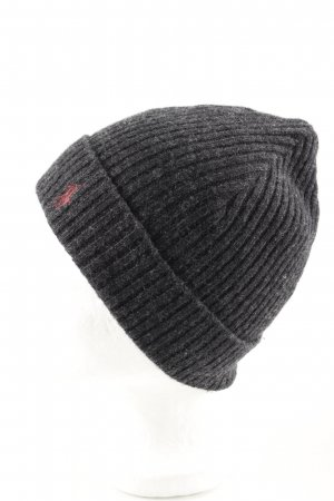 Ralph Lauren Chapeau en tricot gris clair moucheté style décontracté
