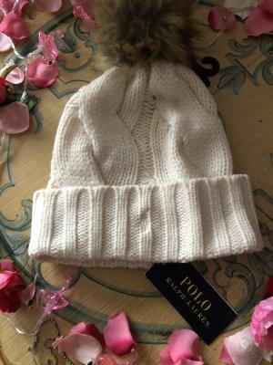 Ralph Lauren Chapeau en tricot beige clair