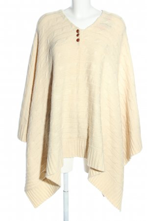 Ralph Lauren Knitted Poncho cream cable stitch casual look