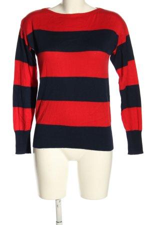Ralph Lauren Maglione lavorato a maglia blu-rosso stampa integrale stile casual