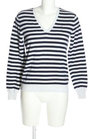 Ralph Lauren Strickpullover schwarz-weiß Streifenmuster Casual-Look