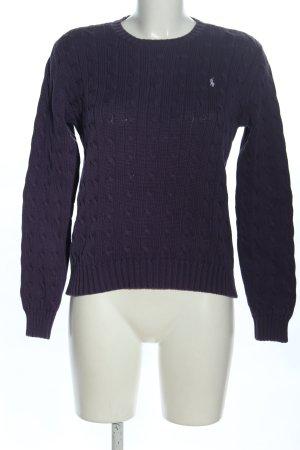 Ralph Lauren Pull tricoté bleu torsades style décontracté