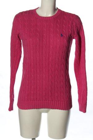 Ralph Lauren Strickpullover pink Schriftzug gestickt Casual-Look