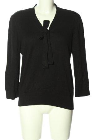Ralph Lauren Pull tricoté noir style décontracté