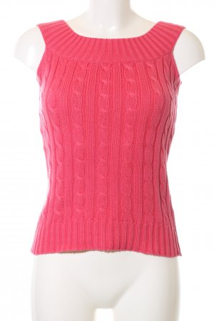 Ralph Lauren Knitted Top pink cable stitch business style