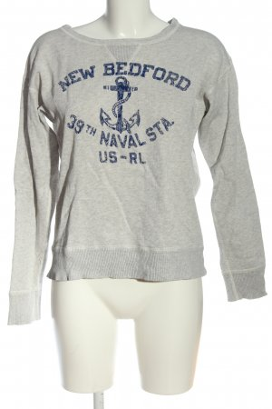 Ralph Lauren Sweatshirt hellgrau-blau meliert Casual-Look