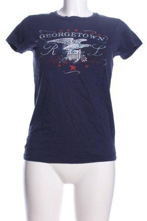 Ralph Lauren T-Shirt blau Motivdruck Casual-Look