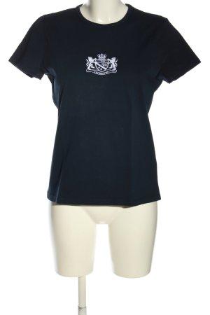 Ralph Lauren T-Shirt blau-weiß Schriftzug gedruckt Casual-Look