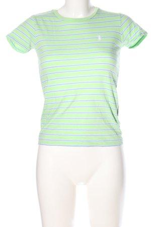 Ralph Lauren T-Shirt grün-blau Schriftzug gestickt Casual-Look