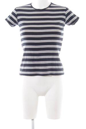 Ralph Lauren T-Shirt blau-weiß Streifenmuster Casual-Look