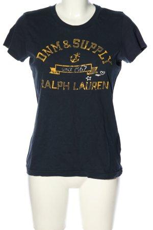 Ralph Lauren T-shirt noir lettrage imprimé style décontracté