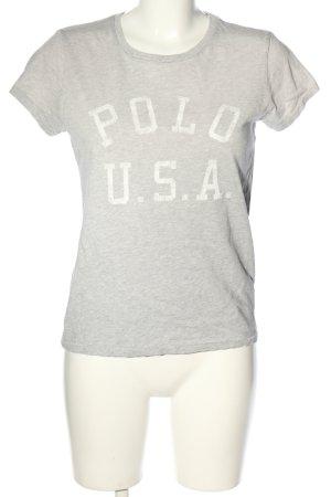 Ralph Lauren T-Shirt hellgrau meliert Casual-Look