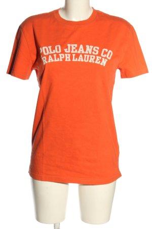 Ralph Lauren T-Shirt hellorange-weiß Casual-Look