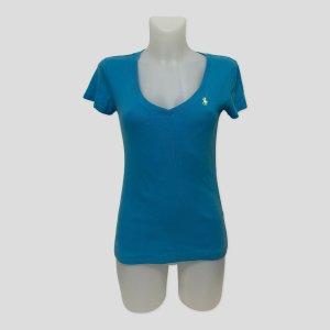 Polo Ralph Lauren Maglia con scollo a V blu neon Cotone