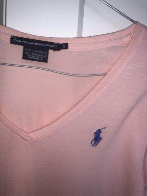 Ralph Lauren t-shirt rosa v Ausschnitt
