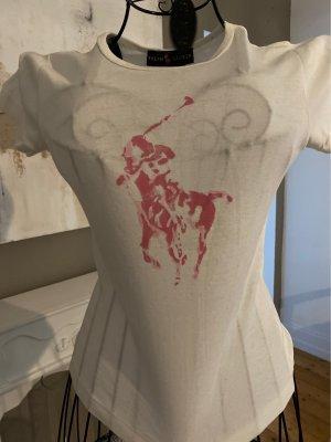 Ralph Lauren Koszulka z nadrukiem biały-różowy