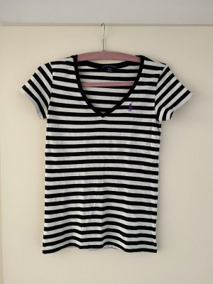 Ralph Lauren V-Neck Shirt black-white