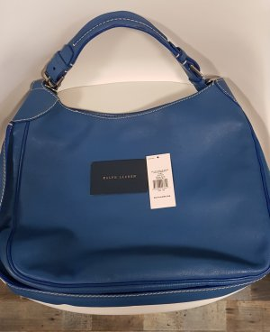 Ralph Lauren Shopper bleu cuir