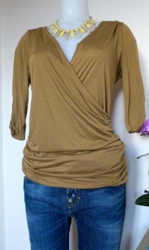 Ralph Lauren Top collo ad anello color cammello-marrone chiaro