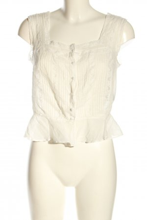 Ralph Lauren Blusa transparente blanco puro look casual