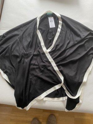 Ralph Lauren Ponczo z dzianiny czarny-w kolorze białej wełny