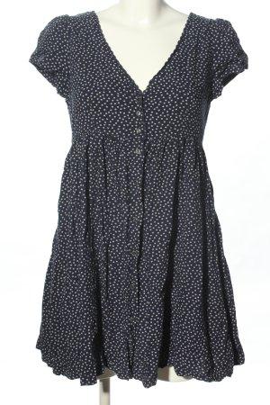 Ralph Lauren Tunikabluse schwarz-wollweiß Punktemuster Casual-Look