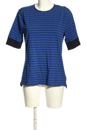 Ralph Lauren T-shirt niebieski-czarny Wzór w paski W stylu casual