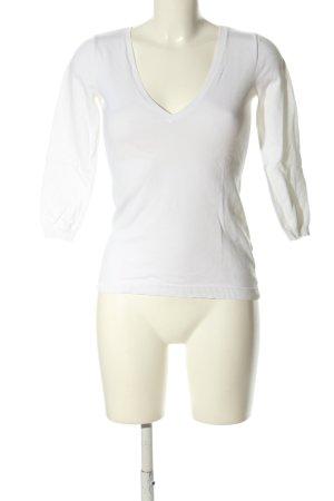 Ralph Lauren V-Ausschnitt-Pullover weiß Casual-Look
