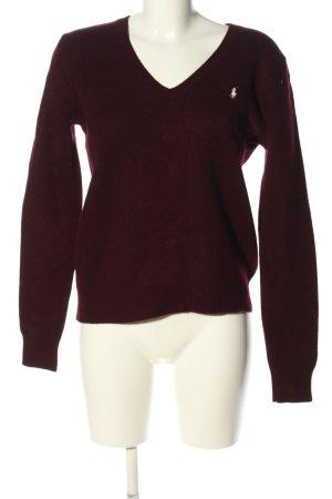 Ralph Lauren V-Ausschnitt-Pullover bordeauxrot Casual-Look