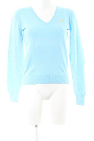 Ralph Lauren V-Ausschnitt-Pullover türkis Casual-Look