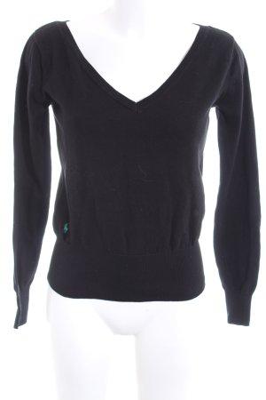 Ralph Lauren V-Ausschnitt-Pullover schwarz Casual-Look