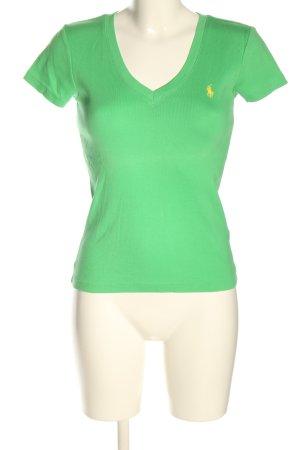 Ralph Lauren V-Ausschnitt-Shirt grün Elegant