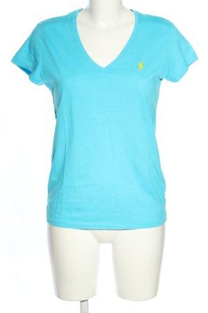 Ralph Lauren V-Ausschnitt-Shirt blau Casual-Look