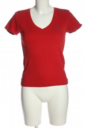 Ralph Lauren V-Neck Shirt red casual look