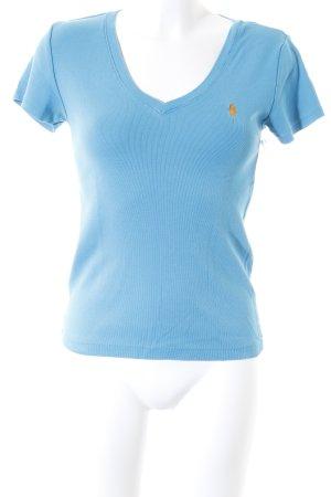 Ralph Lauren V-Ausschnitt-Shirt hellblau-türkis Casual-Look