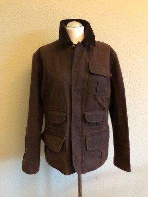 Ralph Lauren Waxed Jacket dark brown