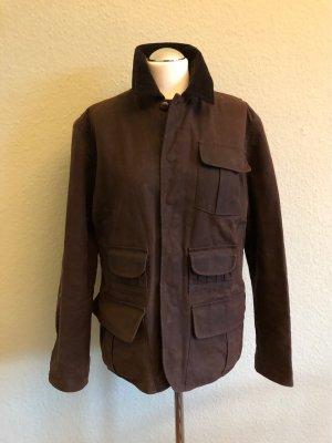 Ralph Lauren Waxed Jacket dark brown