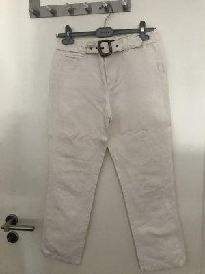 Ralph Lauren: weiße 7/8tel Hose in Leinenoptik