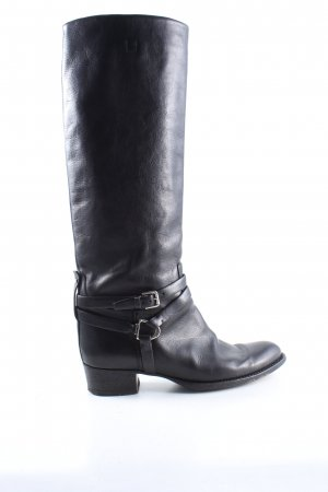 Ralph Lauren Wide Calf Boots black business style