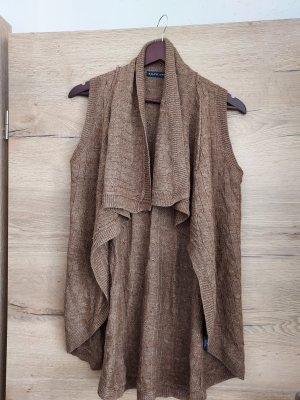 Lauren by Ralph Lauren Long Knitted Vest brown