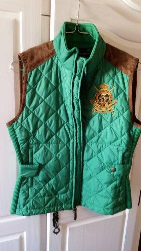Lauren by Ralph Lauren Gewatteerd vest groen-bruin Polyester