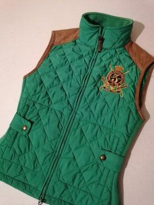 Ralph Lauren Polo Jeans Gilet matelassé vert forêt