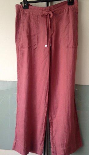 Lauren by Ralph Lauren Pantalone di lino rosso lampone-rosa Lino