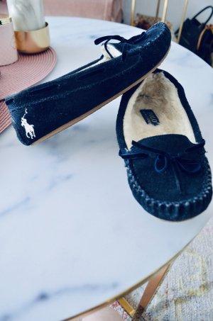 Ralph Lauren Pantoufles bleu-blanc