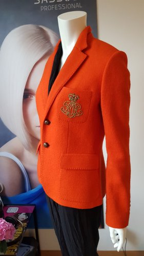 ralph lauren wollblazer sonder Edition orange gefüttert luxus medium 10
