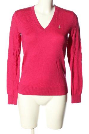 Ralph Lauren Pull en laine rose style décontracté
