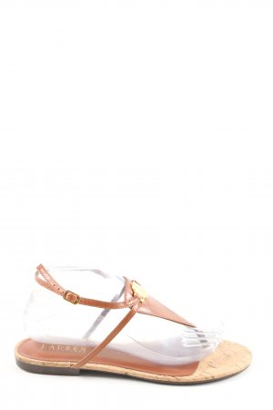 Ralph Lauren Sandalo toe-post marrone stile casual