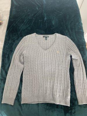 Ralph Lauren Warkoczowy sweter szary
