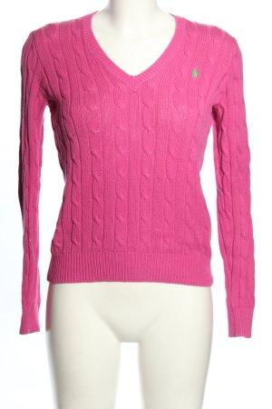 Ralph Lauren Warkoczowy sweter różowy Warkoczowy wzór W stylu casual